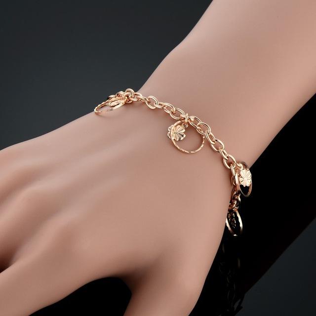 Whole Pulseras Gold Color Cute Charm Bracelet Jewelry For S Women Fancy Bracelets Bangles Jpg 640x640